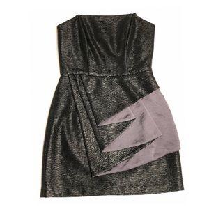 BCBGeneration Textured Mini Black Dress